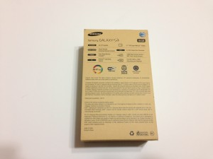 Samsung Galaxy S5 Box - Back
