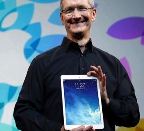 Tim Cook and IPAD AIR 2